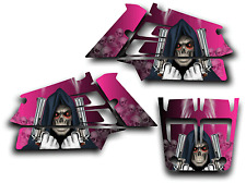 YAMAHA BANSHEE GRAPHICS DECAL KIT GRIM REAPER REVENGE STICKER WRAP SHROUD PINK