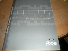 2007 FORD FOCUS WARRANTY GUIDE OWNERS MANUAL SUPPLEMENT BOOKLET ORIGINAL FORD