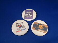 BASKETBALL Lot of 3 NBA BUTTONS  pin pinback badge PACERS KINGS NUGGETS  sports