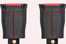 RED Stitch accoppiamenti LANCIA DELTA PRISMA 79-94 2x ANTERIORE CINTURA DI SICUREZZA stelo copre
