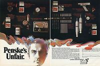 1971 Roger Penske's Unfair Advantage Automotive Parts 2 Page Ad for Sears