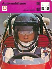 FICHE CARD Jackie Icks Pilote Formule 1 Tyrell Matra Ford GP Austriche 1970s