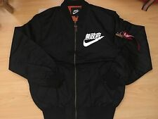 AIR TOKYO FLIGHT BOMBER JACKET BLACK MEDIUM URBAN ANARCHY JAPAN