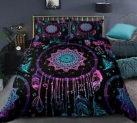 4pc. Feather Dreamcatcher Twin Full Queen King Duvet Cover w Filler Set