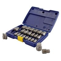 Screw Extractor Set IRWIN HANSON Hex Head Multi-Spline 25 Piece Unscrew Kit Case