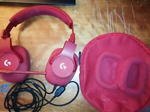 Logitech g433 Gaming Headset Good Condition Extra Ear Pads, Bag, and Microphone
