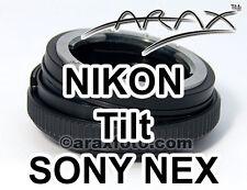 NIKON Lens to Sony NEX (Alpha E) CameraCamcorder 8° TILT Adapter. Arax Waranty!