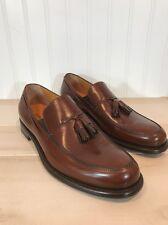 Giorgio Armani Men's Brown Italian Leather Dress Shoes Loafers Tassle Sz 40 US 7