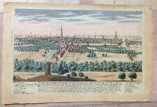 FRANCE RIOM (AUVERGNE) 1740 by CHEREAU 18e CENTURY NICE ENGRAVED VIEW