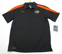 new NIKE #T5519 Men's Size M Athletic DRI-FIT GOLF Short Sleeve Black Polo Shirt