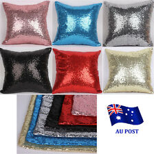Solid Color Glitter Sequins Throw Pillow Case Lounge Cafe Decor Cushion Cover BO