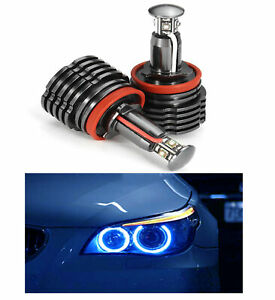 Fit BMW Canbus No Error Angel Eye E92 H8 HALO RING 20W LED Blue Light Bulbs A1