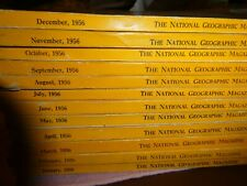 1956 National Geographic  Lot of 12 Complete Year, Monkey Friends,Glaciers,India