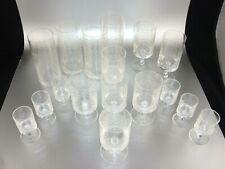 Rosenthal Romanze - B. Wiinblad - verschiedene Kristall-Gläser - Konvolut 17 tlg