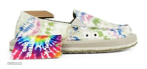Sanuk x Grateful Dead Donna ST Tie Dye Hemp Shoes Womens Size 10 *NEW*