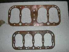 5 flathead cylinder head gaskets, fit 4 cylinder engines