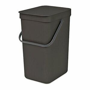 Brabantia 109805 Sort & Go Waste Bin 12L Gray