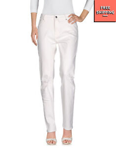 CHEAP MONDAY Jeans W29 L32 Stretch Ivory Ripped Zip Fly Slim Fit