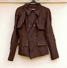 PAPARAZZI Womens Double Breasted Summer/Spring Brown Color Jacket Blazer SIZE L