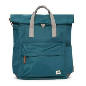 Roka Canfield B Sustainable Medium Weather Resistant Backpack Bag Teal Green