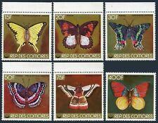 Comoro Isls 314 note 2,MNH.Michel 416-421. Butterflies 1978