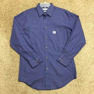 John Bartlett Slim Fit Mens 15.5-32/33 Purple Long Sleeve Button Front Shirt
