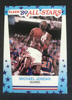 🔥1989 Fleer All Stars Michael Jordan #3 Sticker MINT HIGH GRADE! Chicago Bull