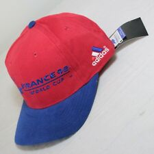 NEW Adidads France 98 Dad Hat Strap Back World Cup 1998 Coupe Monde VTG NOS 90s