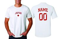 Japan T-shirt Soccer Jersey any Sports Add Any Name & Number men's adults