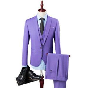 Dinner Prom Wedding Men's 3 Piece Green Groom Tuxedos Formal Suit Suit Custom