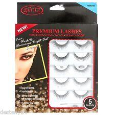Glintz Womens Premium Lashes 5 Pair with Eyelash Glue (795) New