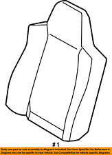 FORD OEM F-250 Super Duty Front Seat-Cushion Cover-Top Back Left 8C3Z2864417EA