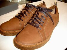 HUSH PUPPIES Lockout Oxfords Solid Brown Nubuck Shoes Mens Sz 10.5 M New