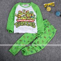 New Teenage Mutant Ninja Turtles Baby Boys Kids Nightwear Pajamas Sleepwear