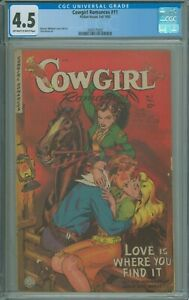 Cowgirl Romances #11 CGC 4.5 VG+ Mauruce Whitman cover and art Pete Morisi  1952