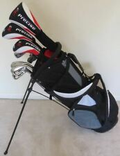 NEW Mens Golf Set Complete Driver Wood Hybrid Irons Putter Clubs Graphite