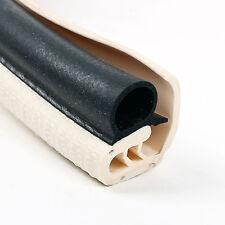 1 Meter Türdichtung Kantenschutz mit langer Abdecklippe Elefenbein Metallkern