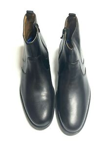Collections by Clarks Black Leather Whiddon Zip  Men's Boots US 11 M 15770 NWOB