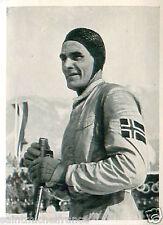 Oddbjorn Hagen Norway Cross-country skiing 18 KM OLYMPIC GAMES 1936 CARD