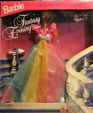 "NIB 1994 BARBIE ""Fantasy Evening Fashions"" Rainbow Sparkle Ball Gown"