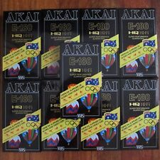 9 x Akai 180 Minutes Blank VHS Video Tapes New & Sealed