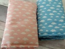 Cloud Cot Bar Bumpers/Wraps pink blue grey yellow mint green free p&p