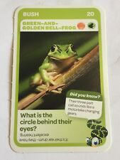 Taronga Zoo Woolworths Aussie Animal Card #20 Green And Golden Bell Frog