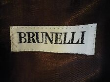 BRUNELLI / PRATO - BROWN SUIT - AS IS CONDITION