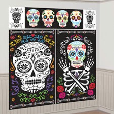 HALLOWEEN DAY OF DEAD SKULL SCENE SETTER  PARTY MUERTOS WALL LARGE DECORATION