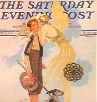 VTG Norman Rockwell Art Print Saturday Evening Post SPRING COVER ** SEE VARIETY
