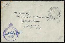 UK GB LIBYA 1943 WWII BRITISH FIELD POST OFFICE IN BENGAZI 656 CENSORED COVER TO
