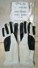 Genuine British Military NATO Anti-Flash Gloves Leather Palm MEDIUM