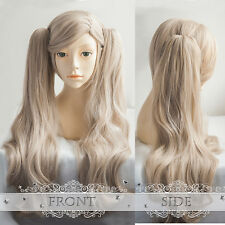 Game Persona 5 Anne Takamaki Cosplay Wig With Chip Ponytails Long Curly Hair Wig