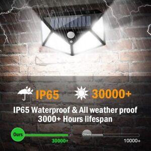 4x100 LED Outdoor Solar Power Wall Light PIR Motion Sensor Garden Security Lamp